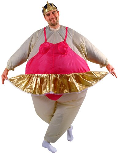 Halloween Ballerina Costumes For Adults (Ballerina Inflatable Adult Costume - Size Standard - One Size Fits)