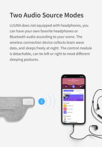 Ivation Luuna Brainwave Brain Sensing Bluetooth Smart Sleep Mask Built-in Music/Sounds, Wireless Connection to Most Devices with EEG and AI Technology - Great for Home, Travel or Nap-Break at Office by Ivation (Image #1)