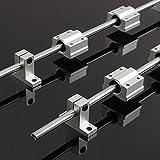Fenstore Linear Rail 2 Pcs 8mm x 400mm Cylinder