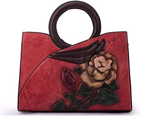 ハンドバッグ - 新しい本物の女性のハンドバッグ、韓国スタイルのクロスショルダーバッグ、ヘッド層はカジュアルなハンドバッグをcowhand -30.5 * 13.3 * 22センチメートル よくできた