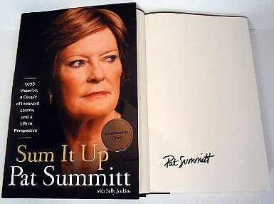 "JSA Pat Summitt signed /""Sum It Up/"" 1st Edition Hardback Book Lady Vols -new"
