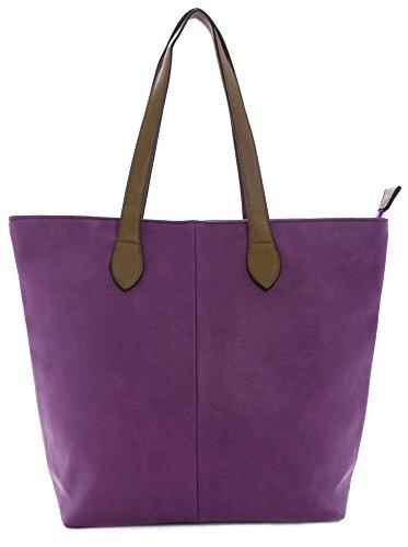 Purple Bag Big Tote coral Soft Handbag Plain Womans Magenta Shoulder Designer Shop qHxOPBRq