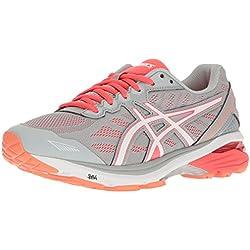 ASICS Women's GT-1000 5 Running Shoe, Mid Grey/White/Diva Pink, 9 M US