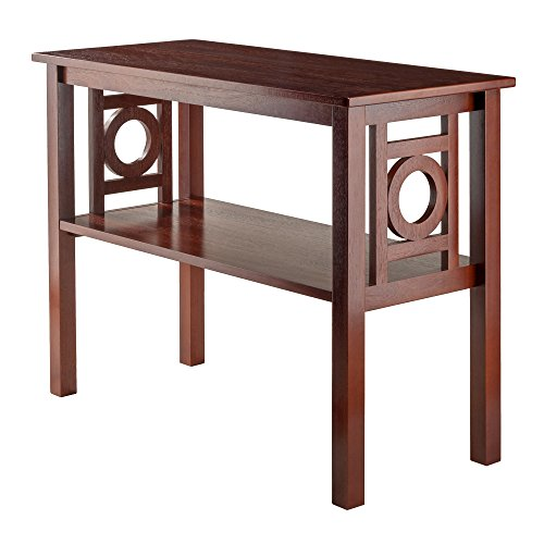 - Svitlife Jalisco Walnut Wood Console Table Console Table Antique Wood Carved Art Deco Vintage Style Side French Marble