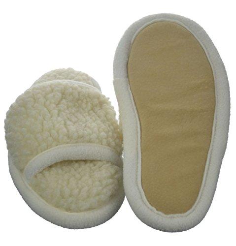 wollwarm - Zapatillas de estar por casa de Lana para hombre blanco Wollweiß
