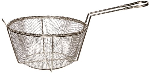 "Adcraft BFSM-950 10"" Round Nickel Plated Steel Six Mesh Fryer Basket for H3"