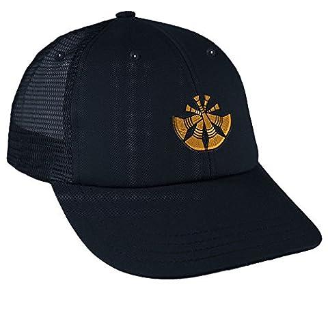 Deputy Chief Embroidery Design Low Crown Mesh Golf Snapback Hat Navy (Chief Head Snapback)