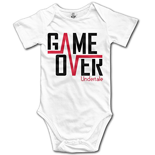 NUBIA Infant Game Over Short Sleeve Romper Playsuit White 24 - Game Pre Galaxy La Jersey