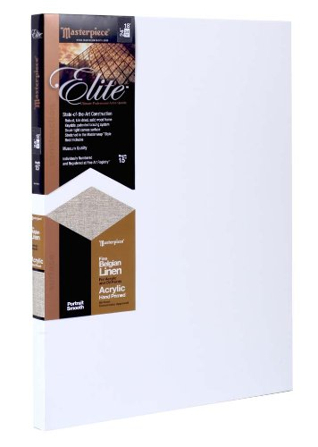 Masterpiece Artist Canvas 35305 Elite 1-1/2' Deep, 12' x 16', Portrait Smooth Acrylic Primed Belgian Linen