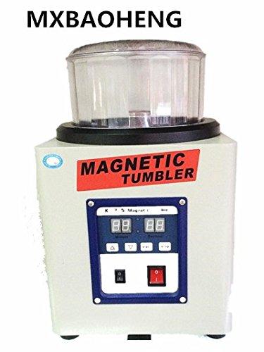 800g 磁気バレル研磨機 タイマー付 ハイパワー正反転可能な強磁気ポリッシャー デジタル表示 バリ除去 金属磨き シルバー磨き 銀磨き ジュエリー工具 110V / 220V B0793N7XK5