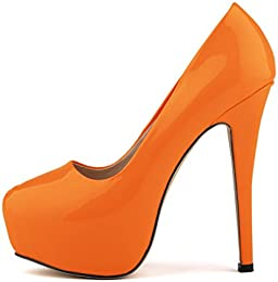 Amazon.com: Orange - Pumps / Shoes: Clothing Shoes &amp Jewelry