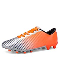 No.66 Town Men's Women's TF Football Cleats Shoes Lawn Spikes Non-Slip Sports FG Training Shoes for Youth