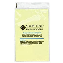 10 Sunshine Polishing Cloths for Sterling Silver, Gold, Brass and Copper Jewelry Polishing Cloth