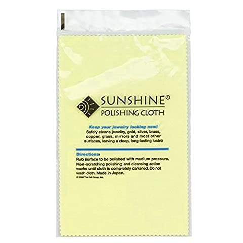 3 Sunshine Polishing Cloths for Sterling Silver, Gold, Brass and Copper Jewelry Polishing Cloth (Y Clothes)