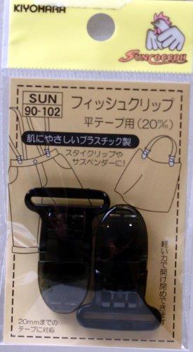 フィッシュクリップ 平テープ用 20ミリ 黒 99-102