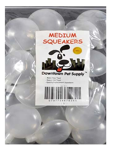 140 Replacement Squeakers, Medium,  by Downtown Pet Supply by Downtown Pet Supply (Image #2)