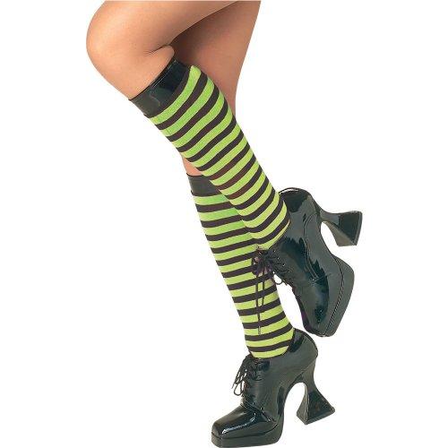 Rubie's Costume Co Gn/Bk Striped Knee Highs Costume, Standard, Multicolor ()