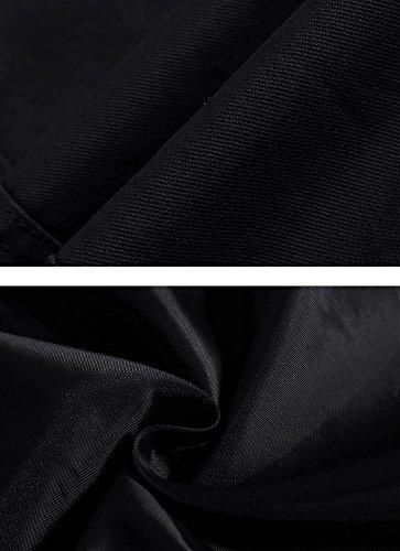 Giacca Wenven Con Leggera Vento Nero Cotone Colletto Uomo A dzxz6Rq4