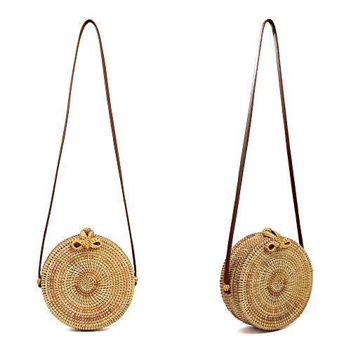 Fashion Office Handbag Xuanbao Hand bow Female Purse Travel Cross Rattan woven Bag Wild Straw Shoulder Beach Holder Vietnamese Card COACqaxfw