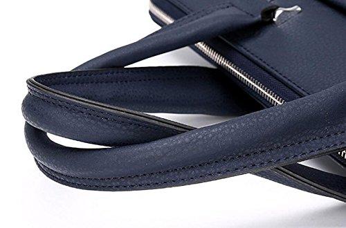 Hombre Bolso De Negocios Bolso De Hombro Bolso Maletín De Moda Casual Salvaje Blue1