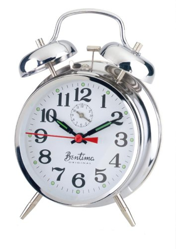 Acctim 12627 Saxon Alarm Clock, Chrome