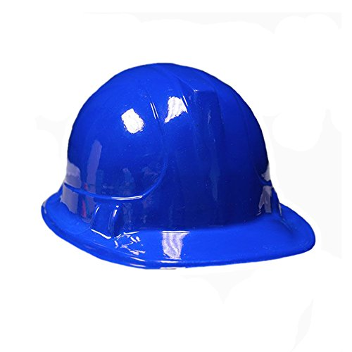 BLUE Kid's Plastic Miner Construction Hard Hats Set