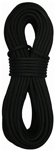 Sterling Rope 9mm SafetyPro Climbing Rope, Black, 50m
