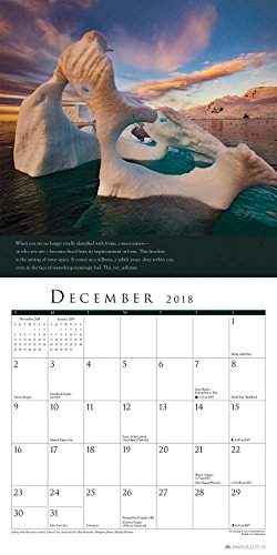 A New Earth 2018 Wall Calendar: A Year of Inspirational Quotes