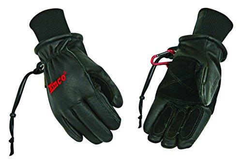 Kinco 900MAX-L Men's Pigskin Ski Glove, ReVive Waterproofing, Heat Keep Thermal Lining, Large, Black