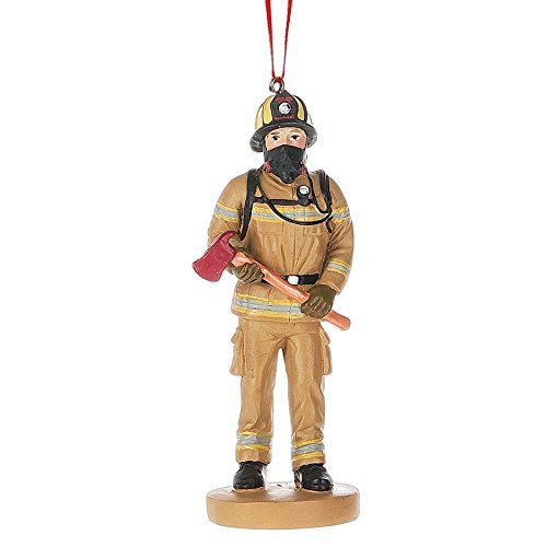 Midwest-CBK Fire Fighter Uniform Resin Stone Christmas Ornament Product ID: 738449444887