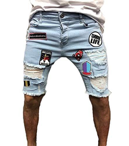 Keephen Pantalones Cortos de Mezclilla de los Hombres Pantalones Cortos de Mezclilla Pantalones Cortos de Mezclilla Pantalones Cortos de Mezclilla 1 #