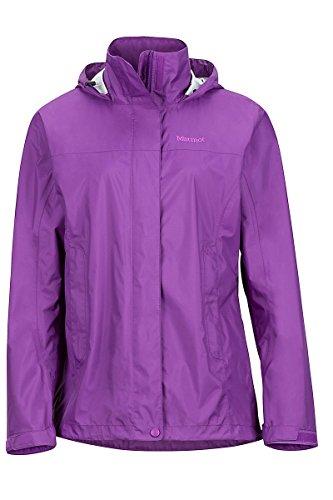 Marmot PreCip Women's Lightweight Waterproof Rain Jacket, Jet Black, Medium