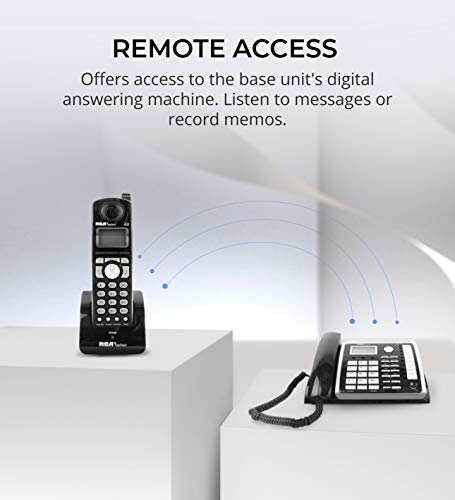 RCA 25260 2-Line Expandable Phone System - Full Duplex Telephone with Built-in Intercom Bundle with RCA 25055RE1 DECT 6.0 Cordless Accessory Handsets (3-Pack) and 6 Blucoil AA Batteries by blucoil (Image #5)