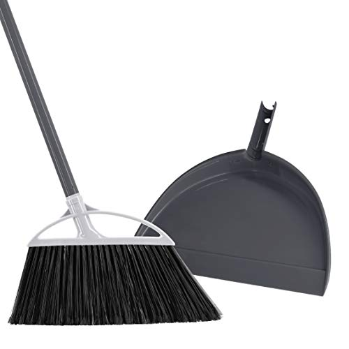 Radley & Stowe Angle Broom with Dustpan (Grey)