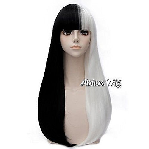 Lolita Party 60/65/70/80cm Long Wavy Curly/Straight Fashion Anime Cosplay Wigs+Cap ()