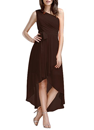 high low brown dress - 6