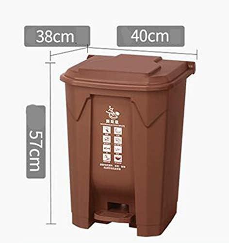 滑らかな表面 住宅業務用ペダル・タイプのごみ箱、スーパーマーケットストリートリサイクルビンゴミ箱のごみ箱バレル リサイクル可能なデザイン (Color : Black, Size : 57*38*40CM)