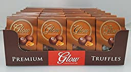 Glow Chocolatier Milk Chocolate Truffles Caramel 1.1 OZ Gift Box - 24 Packs