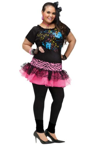 [80's Pop Party Plus Size Costume] (Plus Size Halloween Costumes For Women)