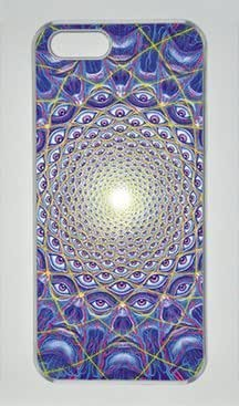 Alex Grey Collective Vision Iphone 5 5S Hard Shell with Transparent Edges Cover Case by Lilyshouse