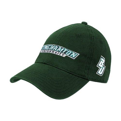 Binghamton Dark Green Twill Unstructured Low Profile Hat 'Binghamton University Flat'
