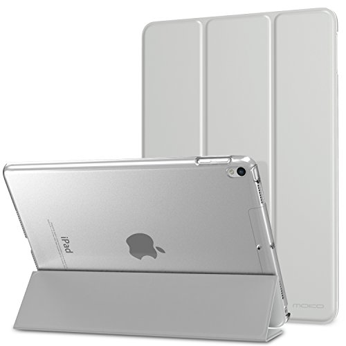 MoKo Case for iPad Pro 10.5 - Slim Lightweight Smart-shell Stand Cover with Translucent Frosted Back Protector for Apple iPad Pro 10.5 Inch 2017 Released Tablet, SILVER (Auto Wake / Sleep)