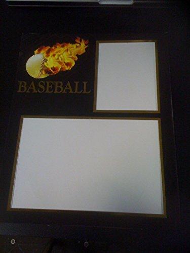 5 Blazing Baseball Photo Mats 8x10 inch Blazing Baseball