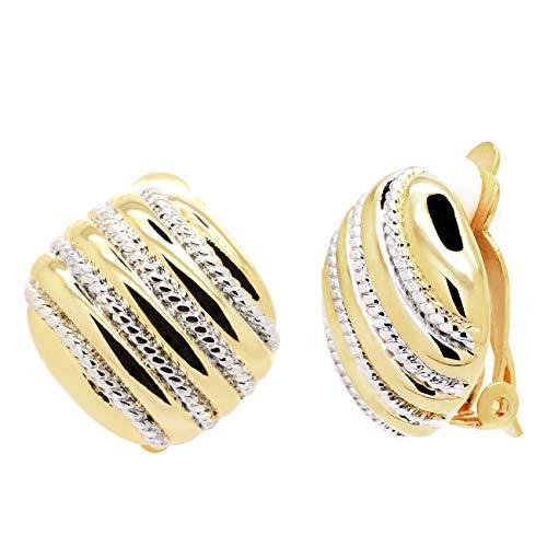 Clip On Earrings Gold...