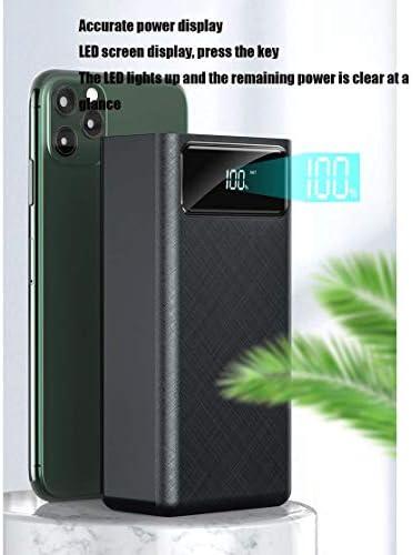 Batteria Esterna di capacità Elevata Banca di Potere 60000mAh, e Portable Capacity Battery Pack con Display LCD e 4 USB e più uscite (2 Pezzi),Nero,60000mAh