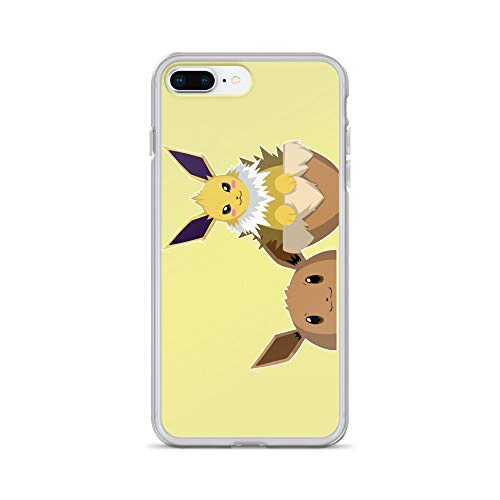 iPhone 7 Plus/8 Plus Case Anti-Scratch Japanese Comic Transparent Cases Cover Jolteon Anime & Manga Graphic Novels Crystal Clear