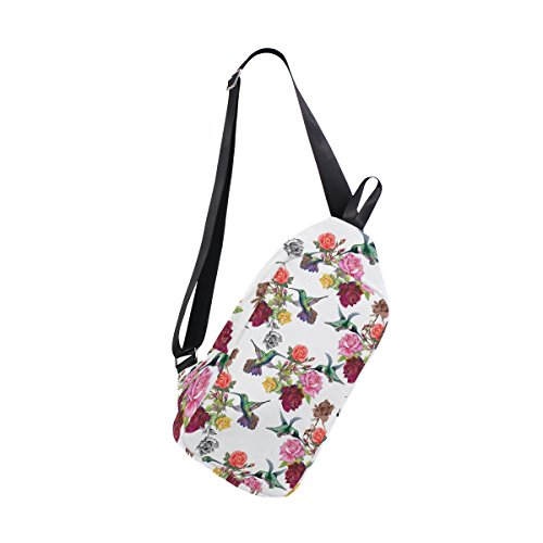 Bag Cross Mujer Shoulder Sling Chest With Para Flowers Coosun Hummingbirds Casual Backpack Dragonswordlinsu Hombre Body Ligero Daypack wYqX8HaH