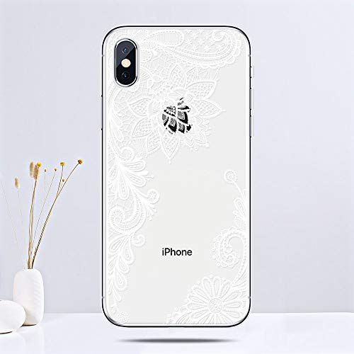 1 piece MANTIS Datura Lace Case for iPhone 6 6s 7 8 Plus Soft TPU Phone Bag Cover Floral Silicone Case for iPhone X 10 5 5s SE Coque