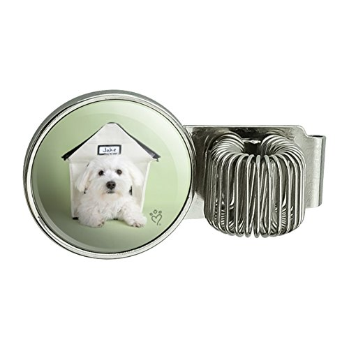 Bichon Frise Maltese Puppy Dog in House Pen Holder Clip Accessory for Planner Journal Appointment Book Diary Notebook - Bichon Frise Calendar Holder