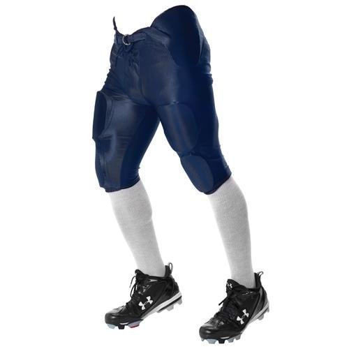 Don Alleson Youth Dazzle Football Pants (Silver, XX-Large)